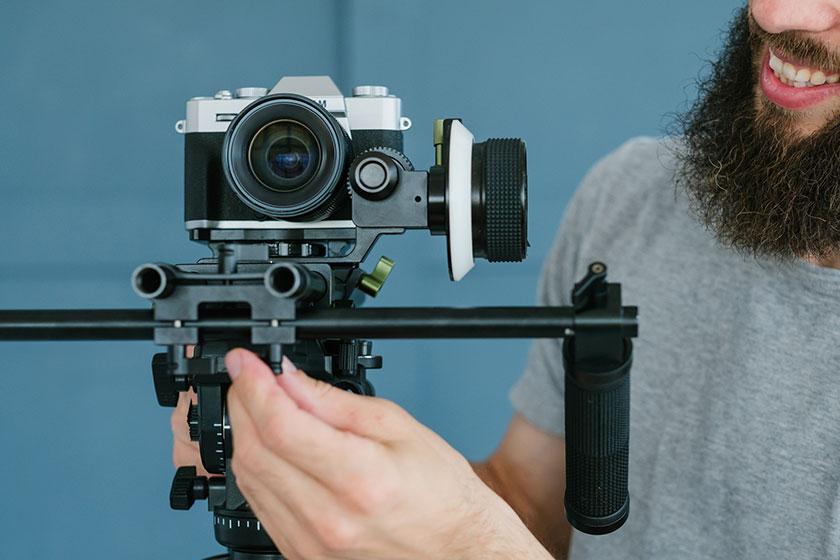 Camera With Man