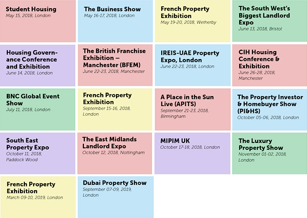 real estate expos in the UK